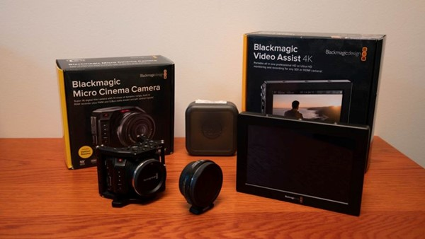 "Black Magic Micro Cinema Camera + Blackmagic video assist 4k, 7"""