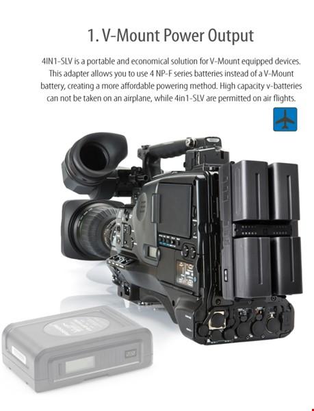 Cineroid NPF (Sony typ) batteri multi HUB m 4x6600mAh batterier+nätdel