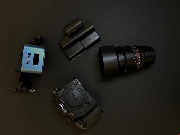 Panasonic GH5 ink objektiv och 5 batteriet