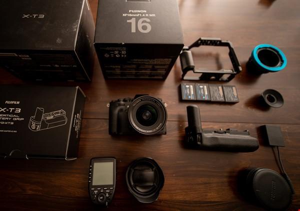 Fuji XT-3, Fuji 16mm 1.4 samt tillbehör