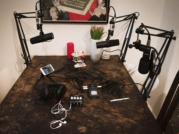 Komplett Podcastutrustning - 3 mikrofoner, Zoom H6