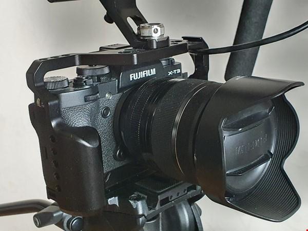 Fuji xt3 kittad med monitor, gimbal osv.
