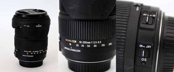 Sigma 18-200mm zoom till Canon