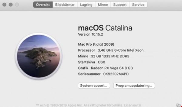 "Mac Pro 5.1 ""hackintosh""säljes / bytes"