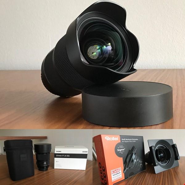Sigma 20mm f/1.4 DG HSM Art Canon EF i nyskick!