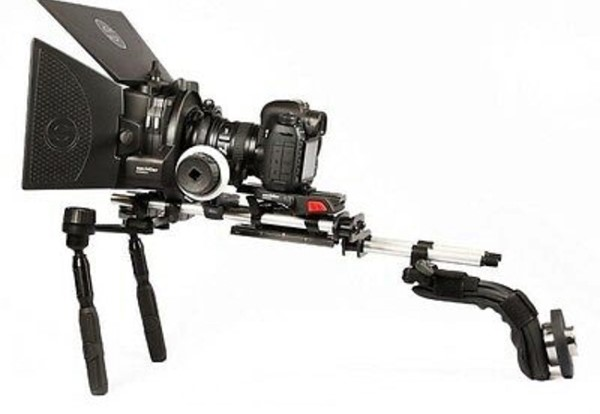 sachtler ace shoulder rig med matte box och follow focus