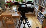 Canon XF305, filmkamera. Stativ. Sennheiser ficksändaRE MED MERA