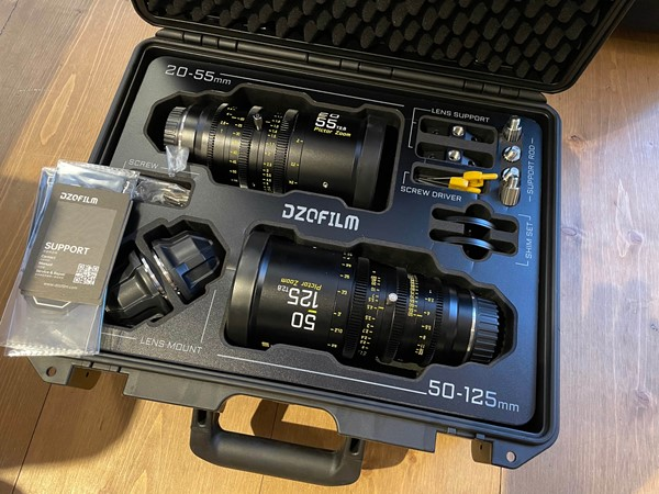 DZOFilm Pictor 20-55mm and 50-125mm T2.8 Super35 Cinema Zoom Lins Kit