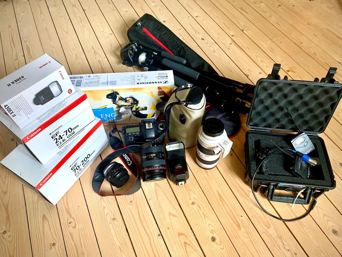 Fantastiskt professionellt foto/film-kit