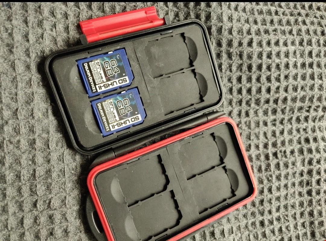 Delkin Devices SD-kort 64gb + hardcase