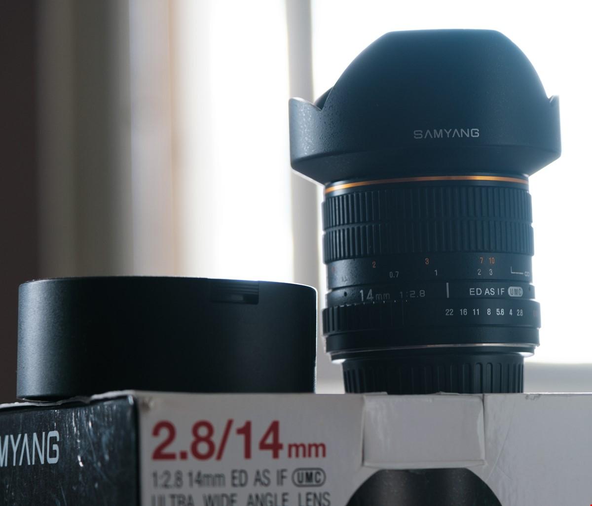 Samyang 14mm f/2.8 ultravidvinkel för Canon EF-mount