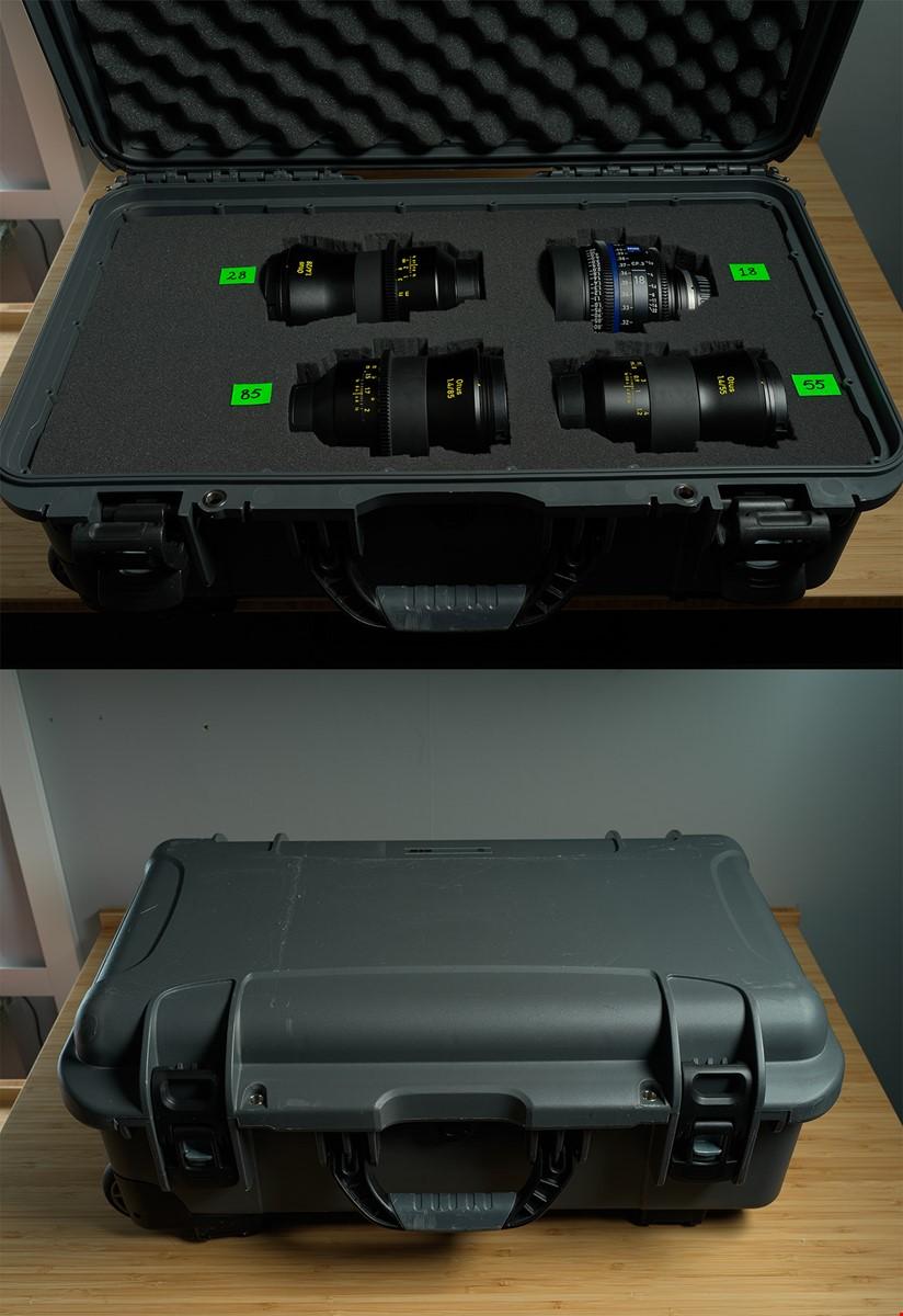 Objektivset Zeiss Otus & CP3 i flightcase