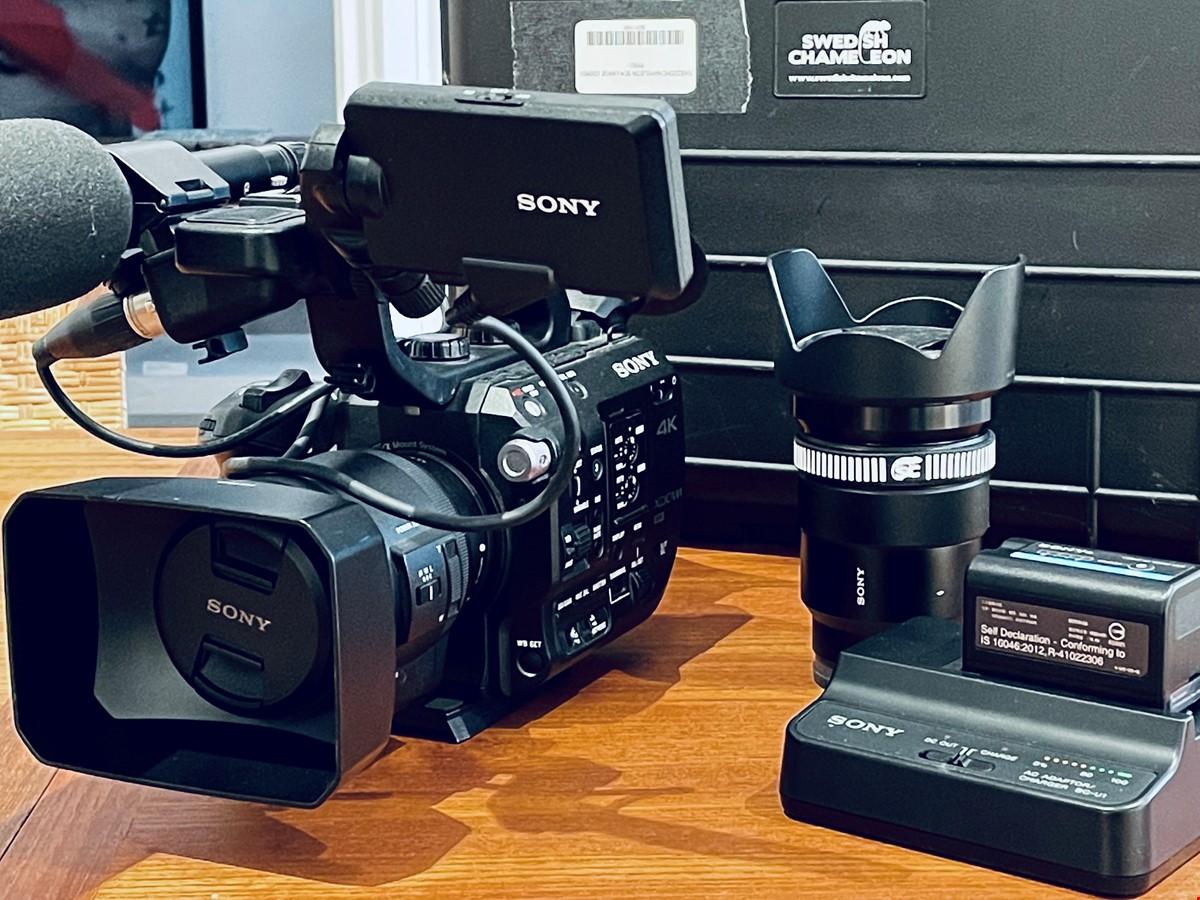 Sony fs 5 videokamera med tillbehör