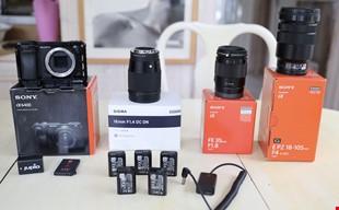 Sony a6400 hus, objektiv FE 35/1,8 mm, 18-105/4 och Sigma 16/1,4